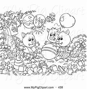 Three Little Pigs Clipart Black And White