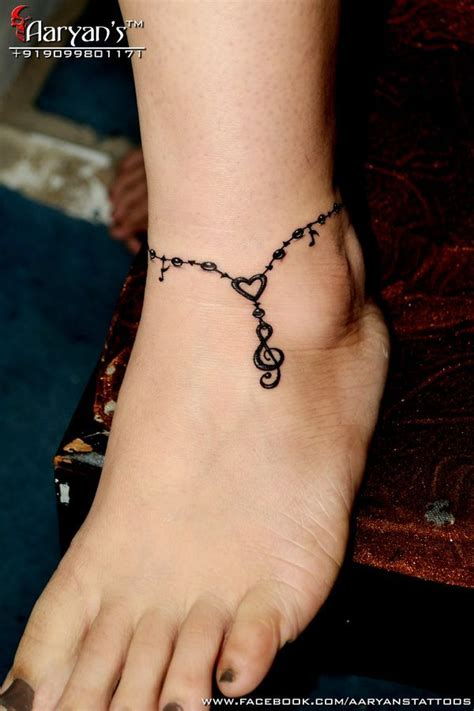 1000+ Ideas About Ankle Bracelet Tattoos On Pinterest