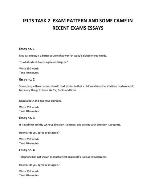 15 Ielts Writing Task 2 Exam Pattern And Real Exam Questions