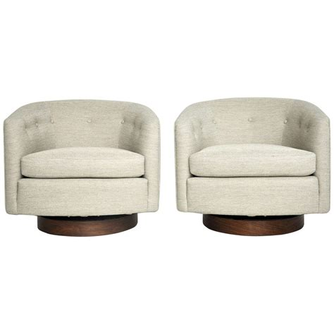 milo baughman swivel lounge chairs at 1stdibs
