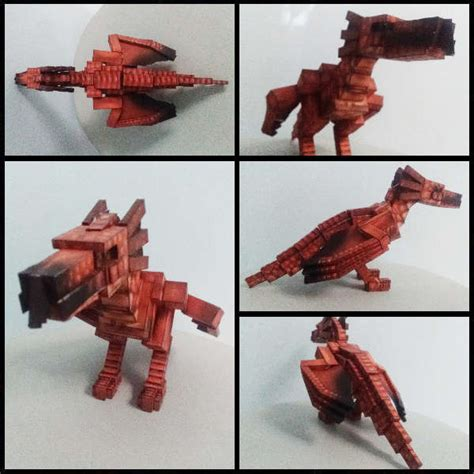 papercraft mother wyvern mo creatures