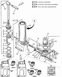 Mercury Marine 40 Hp  4 Cylinder  Manual Tilt Components  Design I  Long Shaft  Serial No