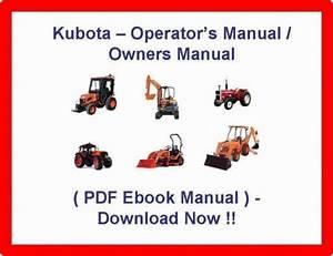 Kubota L4400 Tractor Operators Manual    Owners    Maintenance Service Pdf Manual