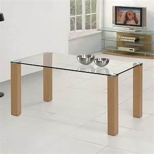 table metal bois salle manger myqtocom With meuble salle À manger avec table verre et bois salle À manger