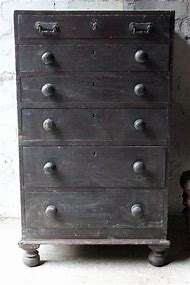 Painted Pine Chest of Drawers