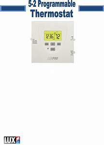 Lux Products Thermostat Ph521 User Guide