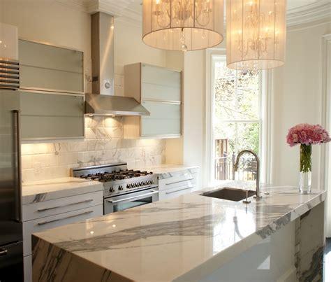 white marble kitchen island white marble backsplash kitchen contemporary with black
