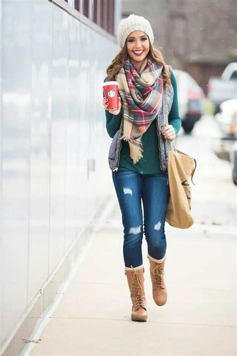plaid sleeve knit top 25 ways to wear a scarf style ideas 2018