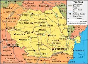 Romania Map And Satellite Image