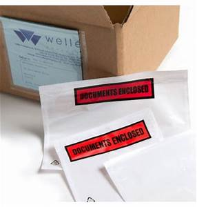 adhesive documents enclosed pouches With adhesive document pouches