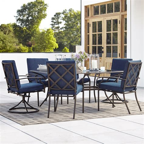 blue outdoor table and chairs grand resort fairfax 7pc dining set blue limited