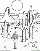 Desert Coloring Mojave 28kb 440px sketch template