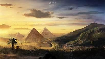 Pyramids Peaceful Landscapes Pyramid Fantasy Martina Digital
