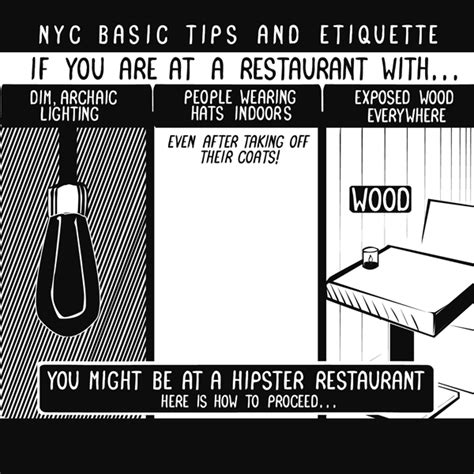 the fine dining guide basic restaurant etiquette one a funny illustrated guide to dining at a hipster