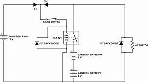 Solar Cell - Chicken Coop Door Opener Circuit