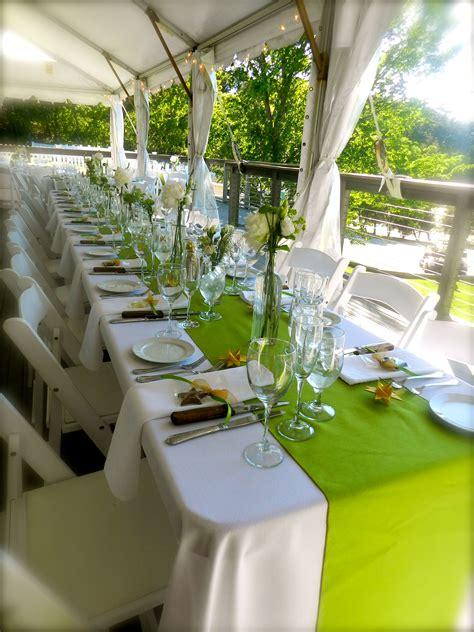 Cape Cod Weddings Beach Weddings Table Scape Lime Green