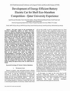 (PDF) Development of energy efficient battery electric car ...