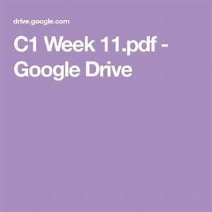 C1 Week 11 Pdf