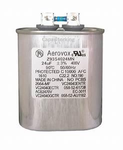 Aerovox Lighting Capacitor - 24uf 400 Volt - Metal Halide - Z93s4024mn  2664-mf