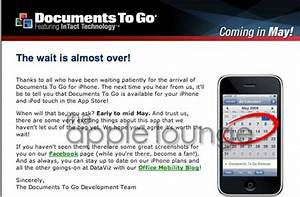 documents to go per iphone e ipod touch in arrivo the With documents to go iphone
