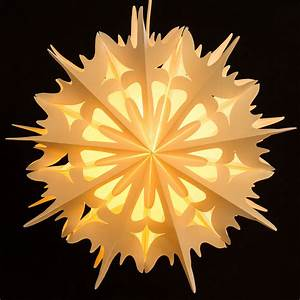 Papierstern Mit Beleuchtung : sikora fb54 beleuchteter gro er papierstern stern eiskristall leuchte weihnachten d 49cm ~ Watch28wear.com Haus und Dekorationen