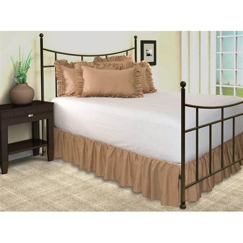 split corner bed skirt solid ruffled bed skirt with split corners 18 quot drop ebay