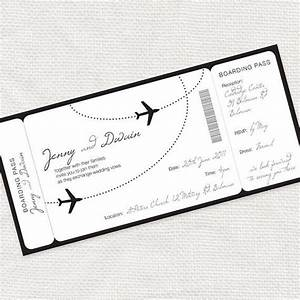 Come fly with me airplane boarding pass invitation for Free printable boarding pass wedding invitations