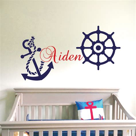 There are 13391 anchor wall decor for sale on etsy, and. Nautical Wall Decal _ Boys Room Wall Sticker _ Nursery Wall Decals Anchor Wall Decal _ Sailing ...