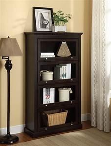 Dorel, Alton, Alley, 4, Shelf, Espresso, Barrister, Bookcase