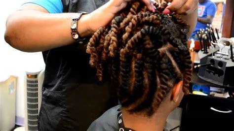 flat twist updo hairstyles  black women hairstylo