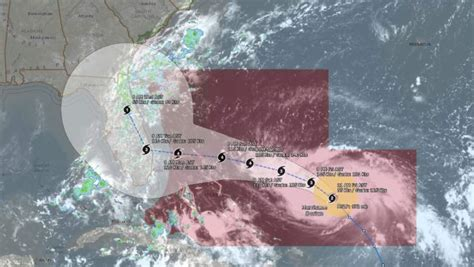 hurricane dorian maps projected path  trackers