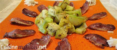 cuisiner le magret de canard au four courgettes au magret de canard fumé