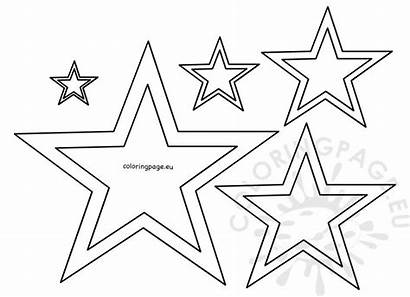 Star Different Stencil Template Coloring