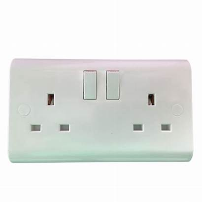 Socket Plastic 13a Double Switch Ukew