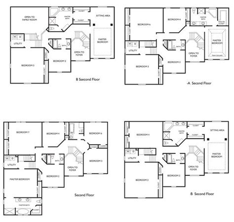 luxury 4 bedroom two storey house plans new home plans