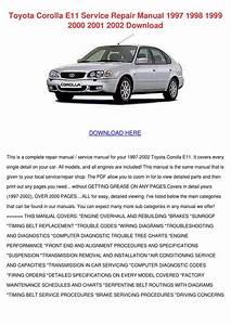 Toyota Corolla E11 Service Repair Manual 1997 By Debbi