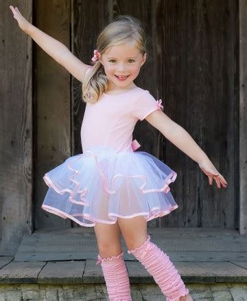 Pink Short Sleeve Leotard With Tutu Ruf E S