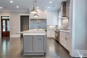Kitchen island under countertop lighting transitional for Countertop lighting