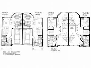 Plan maison jumelee gratuit for Plan maison jumelee gratuit