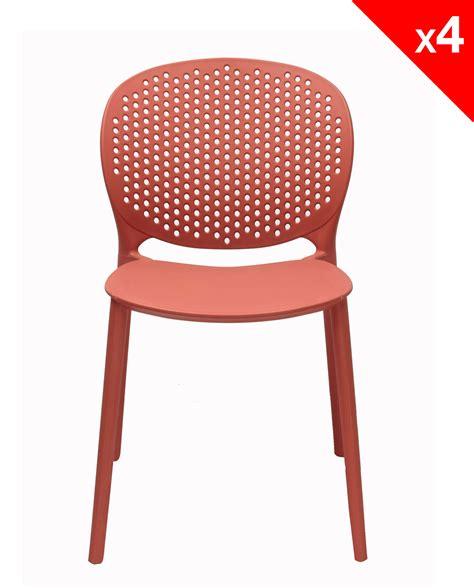 lot chaise lot de 4 chaises moderne intérieur extérieur goa