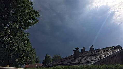 unwetter  sued und ostbayern blitze starkregen und ein