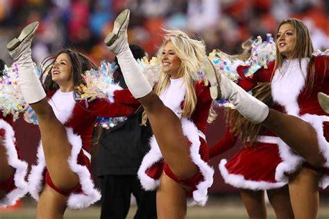 redskins cheerleaders christmas  sports column
