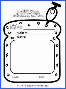 sandwich book report project templates printable With sandwich template for writing