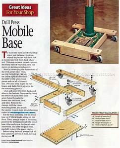 #1862 Drill Press Mobile Base Plans • WoodArchivist