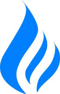Natural Gas Flame Logo Clip Art