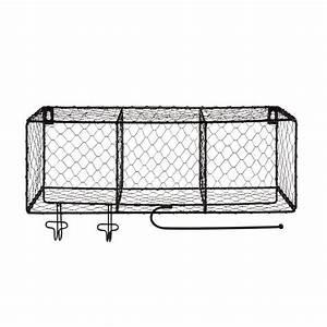 etagere 3 cases en metal satine noir satin pool les With deco cuisine etagere