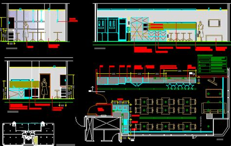 office  furniture  details dwg section  autocad