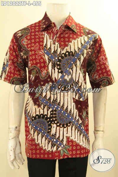 kemeja batik pria lengan pendek motif elegan busana batik