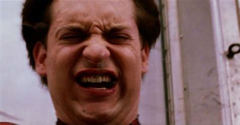 Tobey Maguire Face Meme - tobey maguire ugly cry gif google search spider man pinterest search