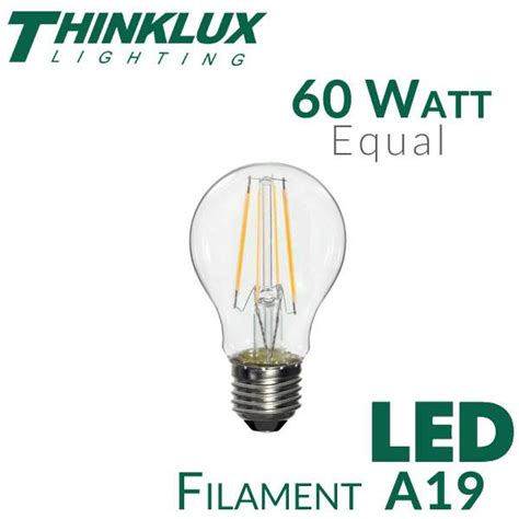 highest watt light bulb light bulb a19 thinklux filament led bulbs earthled com